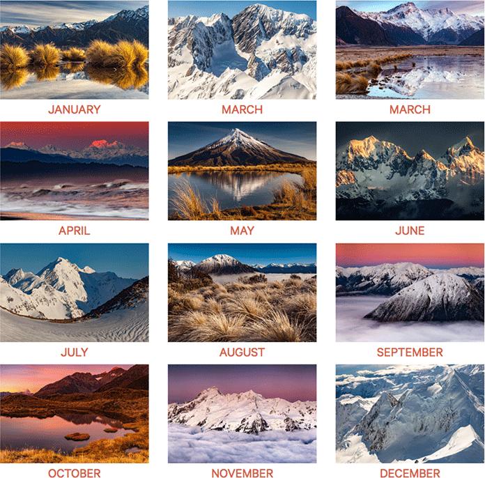 NZ Alpine Calendar 2018 | Caxton